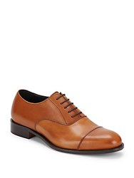 Bruno Magli Domasco Leather Lace Up Oxfords Whiskey