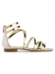 Ermanno Scervino Strappy Sandals Metallic