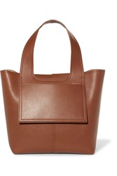 Victoria Beckham Apron Leather Tote Tan Gbp