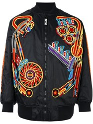 Ktz Pinball Patch Bomber Jacket Black