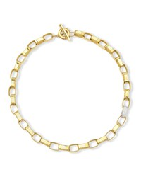 Princess 18K Yellow Gold Single Diamond Link Necklace Robert Coin