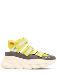 Versace 40Mm Chain Reaction Nylon Sneakers Lime Green
