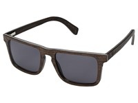 Shwood Govy 2 Wood Sunglasses Dark Walnut Grey Athletic Performance Sport Sunglasses Black