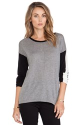 Candc California Colorblocked Sweater Gray