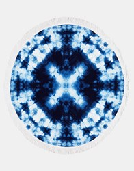 Seafolly Tie Dye Round Towel Navy