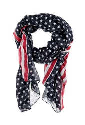 Forever 21 American Flag Scarf Navy Red
