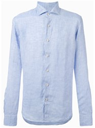 Xacus Denim Button Up Shirt Blue