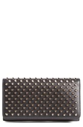 Women's Christian Louboutin 'Macaron' Studded Leather Continental Wallet