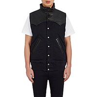Sacai Men's Western Yoke Vest Navy