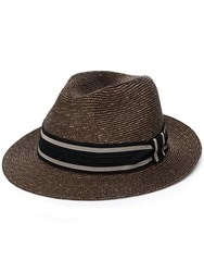 Etro Fedora Hat Brown