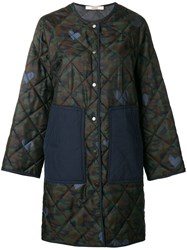 Odeeh Quilted Coat Green