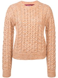 Sies Marjan Cable Knit Sweater Pink