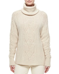 Ralph Lauren Collection Cashmere Cable Knit Turtleneck Sweater