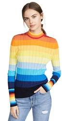 Chinti And Parker Sunset Pointelle Sweater Multi