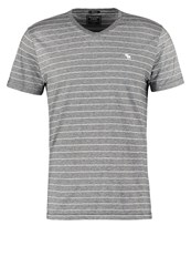 Abercrombie And Fitch Muscle Fit Print Tshirt Black Grey
