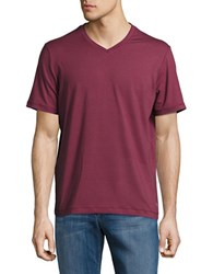 Mpg Expedite V Neck Striped Tee Maroon