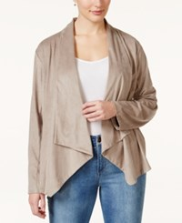 Styleandco. Style And Co. Plus Size Draped Faux Suede Jacket Only At Macy's