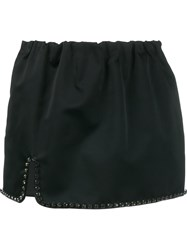 N 21 No21 Rhinestone Trim Mini Skirt Black