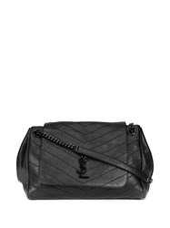 Saint Laurent Calf Leather Monogrammed Bag Black
