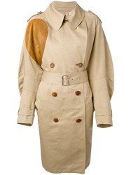 Wunderkind Classic Trench Coat Women Cotton Linen Flax Lamb Skin 34 Nude Neutrals