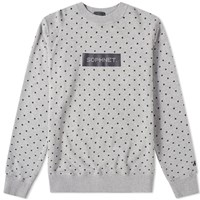 Sophnet. Polka Dot Crew Sweat Grey