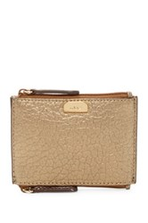 Lodis French Double Zip Leather Pouch Wallet Metallic