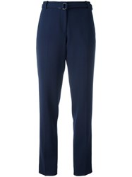 Victoria Beckham Slim Fit Tailored Trousers Blue