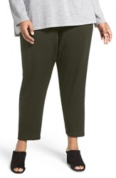Eileen Fisher Plus Size Women's Stretch Tencel Fleece Ankle Pants Surplus