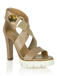 Daniel East Point Cleated Sole Sandals Brown