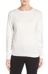 Ivanka Trump Women's Lace Inset Sweater