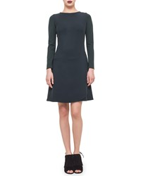 Akris Punto Long Sleeve Faux Wrap Dress Bottle