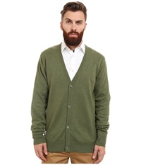Wesc Borik Knitted Sweater Cardigan Woodbine Men's Clothing Green