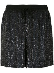 Ashish Sequin Shorts Women Silk S Black