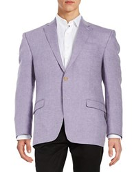 Lauren Ralph Lauren Two Button Linen Blazer Lilac