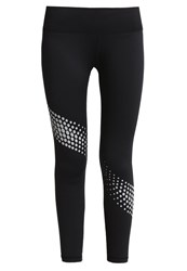 Gap Tights Silver Reflective Dot Black