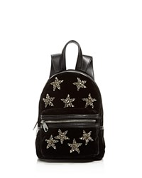 Cynthia Rowley Velvet Mini Backpack Black