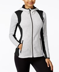 Calvin Klein Performance Fleece Hooded Jacket Could Heather