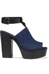 Rebecca Minkoff Cece Denim Platform Sandals Blue