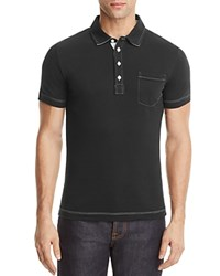 Billy Reid Pensacola Slim Fit Polo Shirt Black