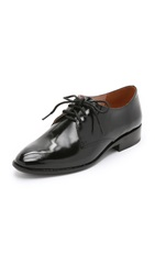 Madewell The Preston Shiny Oxfords True Black