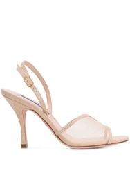 Stuart Weitzman Bambina Cream Sandals Neutrals