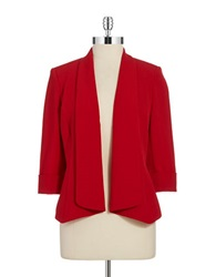 Nipon Boutique Plus Tuxedo Collared Jacket Fire Red