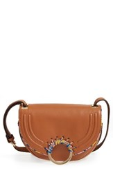 Sam Edelman Rio Calfskin Crossbody Bag Beige Saddle