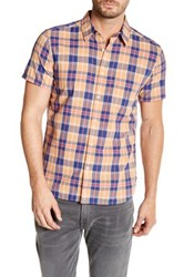 Lucky Brand Ballona California Fit Short Sleeve Plaid Woven Shirt Multi
