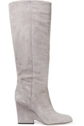 Sam Edelman Whitney Suede Knee Boots Gray