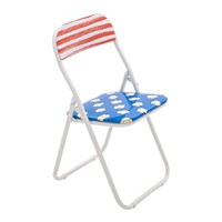 Seletti 'Blow' Folding Chair Metal Popcorn