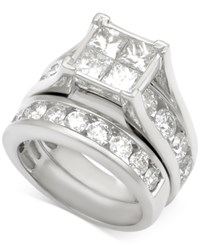 Macy's Diamond Channel Set Bridal Set 5 Ct. T.W. In 14K White Gold