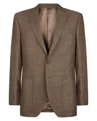 Jaeger Regular Basketweave Jacket Brown