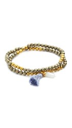 Lacey Ryan Double Wrap Bracelet Gold Grey