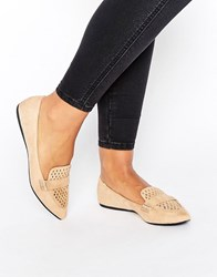 Call It Spring Unoille Cut Out Point Flat Shoes Natural Beige